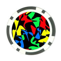 Colorful abstraction Poker Chip Card Guards (10 pack)