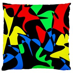 Colorful abstraction Large Cushion Case (Two Sides)