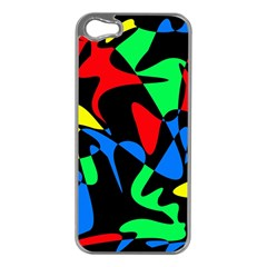 Colorful abstraction Apple iPhone 5 Case (Silver)