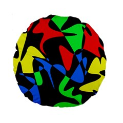 Colorful abstraction Standard 15  Premium Round Cushions