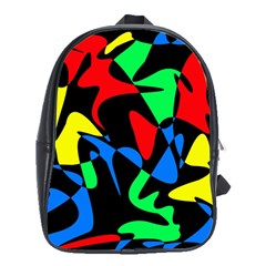 Colorful abstraction School Bags (XL)