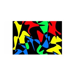 Colorful abstraction Satin Wrap
