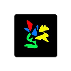 Colorful abstraction Square Magnet