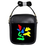 Colorful abstraction Girls Sling Bags Front