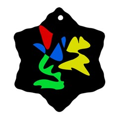 Colorful abstraction Snowflake Ornament (2-Side)