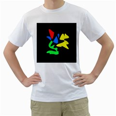 Colorful abstraction Men s T-Shirt (White)