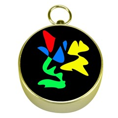 Colorful abstraction Gold Compasses