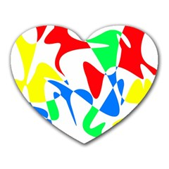 Colorful abstraction Heart Mousepads