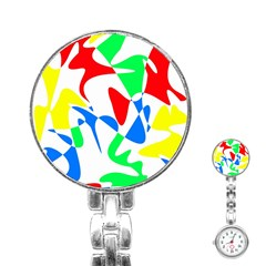 Colorful abstraction Stainless Steel Nurses Watch