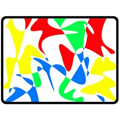 Colorful abstraction Double Sided Fleece Blanket (Large)