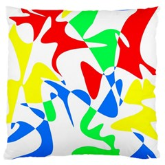 Colorful abstraction Large Flano Cushion Case (One Side)