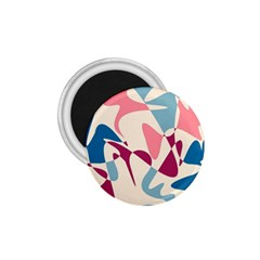 Blue, pink and purple pattern 1.75  Magnets