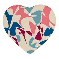Blue, pink and purple pattern Ornament (Heart)
