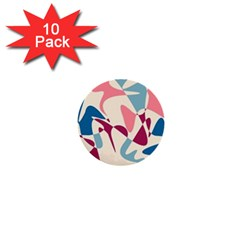 Blue, pink and purple pattern 1  Mini Buttons (10 pack)