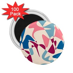 Blue, pink and purple pattern 2.25  Magnets (100 pack)
