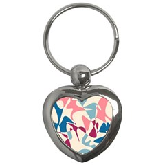 Blue, pink and purple pattern Key Chains (Heart)