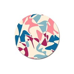 Blue, pink and purple pattern Magnet 3  (Round)