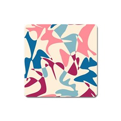 Blue, pink and purple pattern Square Magnet