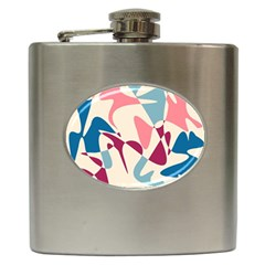 Blue, pink and purple pattern Hip Flask (6 oz)