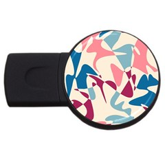 Blue, pink and purple pattern USB Flash Drive Round (1 GB)