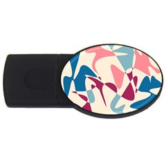 Blue, pink and purple pattern USB Flash Drive Oval (2 GB)