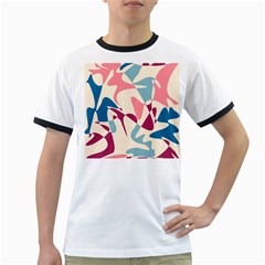 Blue, pink and purple pattern Ringer T-Shirts