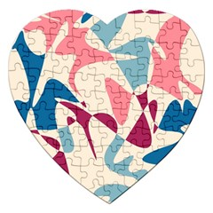 Blue, pink and purple pattern Jigsaw Puzzle (Heart)