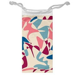 Blue, pink and purple pattern Jewelry Bags