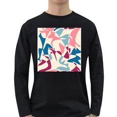 Blue, pink and purple pattern Long Sleeve Dark T-Shirts