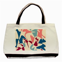 Blue, pink and purple pattern Basic Tote Bag