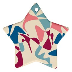 Blue, pink and purple pattern Star Ornament (Two Sides)