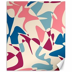 Blue, pink and purple pattern Canvas 8  x 10