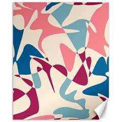 Blue, pink and purple pattern Canvas 16  x 20