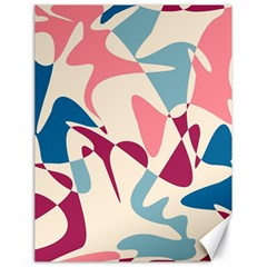 Blue, pink and purple pattern Canvas 18  x 24