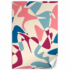 Blue, pink and purple pattern Canvas 20  x 30