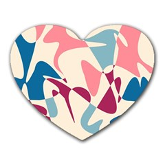 Blue, pink and purple pattern Heart Mousepads