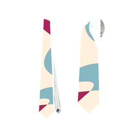 Blue, pink and purple pattern Neckties (One Side)