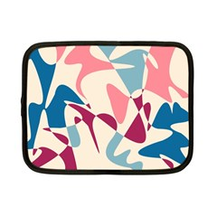 Blue, pink and purple pattern Netbook Case (Small)