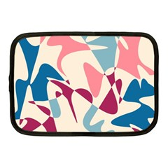 Blue, pink and purple pattern Netbook Case (Medium)