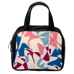 Blue, pink and purple pattern Classic Handbags (One Side)