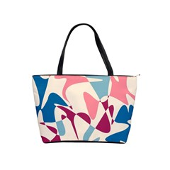 Blue, pink and purple pattern Shoulder Handbags