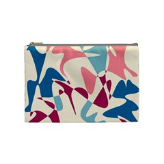 Blue, pink and purple pattern Cosmetic Bag (Medium)