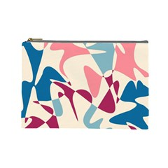 Blue, pink and purple pattern Cosmetic Bag (Large)