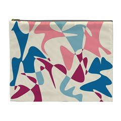 Blue, pink and purple pattern Cosmetic Bag (XL)