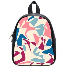 Blue, pink and purple pattern School Bags (Small)