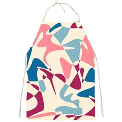 Blue, pink and purple pattern Full Print Aprons