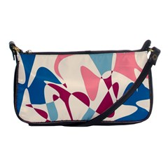 Blue, pink and purple pattern Shoulder Clutch Bags