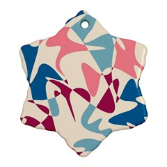 Blue, pink and purple pattern Ornament (Snowflake)