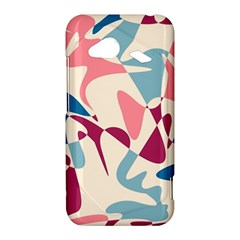 Blue, pink and purple pattern HTC Droid Incredible 4G LTE Hardshell Case