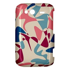 Blue, pink and purple pattern HTC Wildfire S A510e Hardshell Case